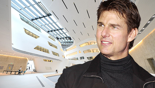 Tom Cruise wird als Agent Ethan Hunt auf dem WU-Campus sowie in der Oper vor der Kamera stehen. (Bild: APA/Helmut Fohringer, AFP/STR, krone.at-Grafik)