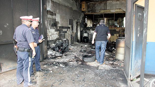 Fünf Verletzte bei Explosion in Kfz-Werkstätte (Bild: Klaus Kreuzer)
