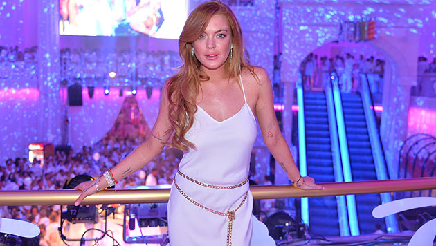 "Lindsay Lohan beim ""Weißen Fest"" in Linz (Bild: PlusCity Linz/Andreas Tischler)"
