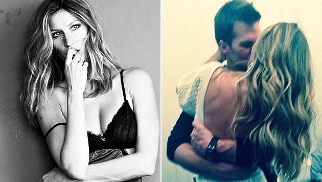 Zum Geburtstag von Tom Brady postete Gisele Bündchen ein romantisches Kuss-Foto. (Bild: instagram.com/giseleofficial)
