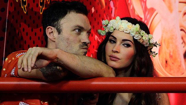 Megan Fox mit Ehemann Brian Austin Green. (Bild: AP/Hassan Ammar)
