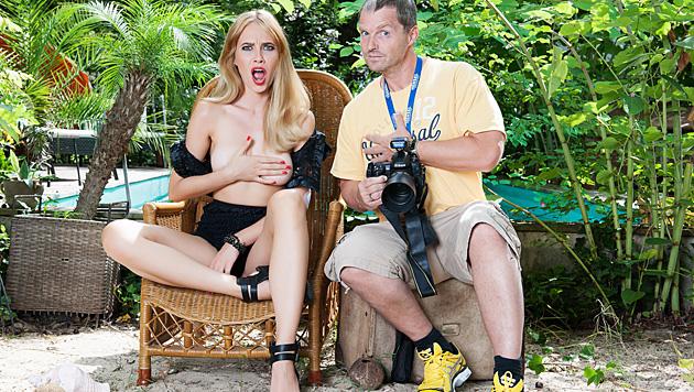 Der Fotograf und sein Model: Ena Kadic und Manfred Baumann (Bild: Manfred Baumann)