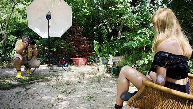 Ena Kadic beim Shooting für den Baumann-Kalender (Bild: Manfred Baumann)