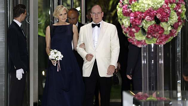 2011 wurde geheiratet, drei Jahre lange wartete das Fürstenpaar vergeblich auf Nachwuchs. (Bild: AP)