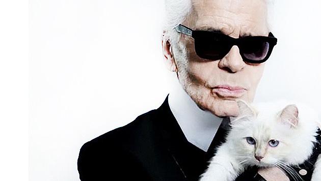 Karl Lagerfeld: Sozialhilfe nur für gut Gekleidete (Bild: facebook.com/MademoiselleChoupetteLagerfeld)