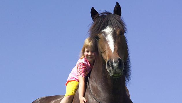 Pferde schenken schwer kranken Kindern ein Lächeln (Bild: Verein e.motion)