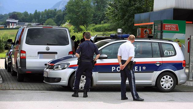 Bei dieser Tankstelle klickten für den Verdächtigen die Handschellen. (Bild: Helmut Klein)