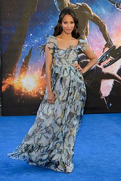"""Während der PR-Tour für """"Guardians of the Galaxy"""" wurde bekannt, dass Saldana schwanger ist. (Bild: AP/Jonathan Short)"""
