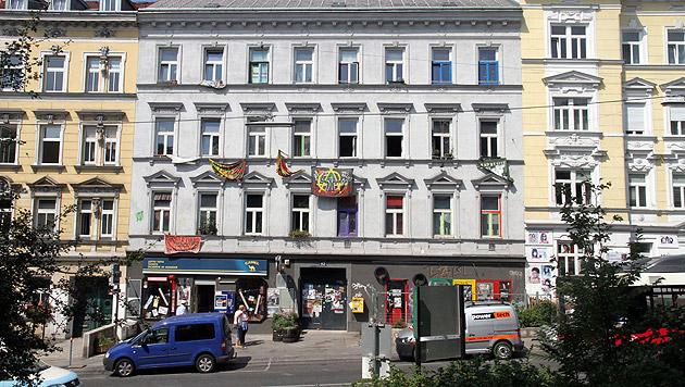 Die Pankahyttn in der Wiener Johnstraße (Bild: Andi Schiel)