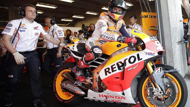 Marquez weiter in Hochform: Pole in Indianapolis (Bild: AP)
