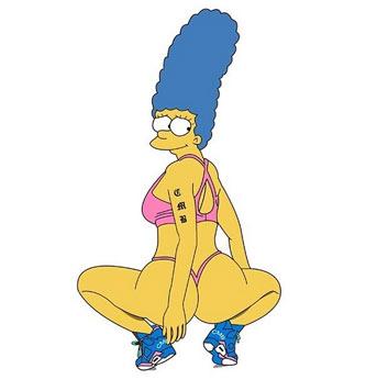 Auch Marge Simpson zeigt sich mit Nicki-Minaj-Sitzhöckern. (Bild: instagram.com/nickiminaj)