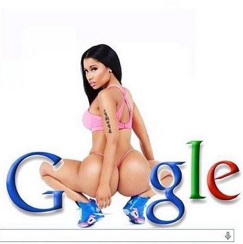 """Oh! Nicki Minaj und ihr Po ersetzen den Buchstaben """"O"""" im Google-Logo. (Bild: instagram.com/nickiminaj)"""
