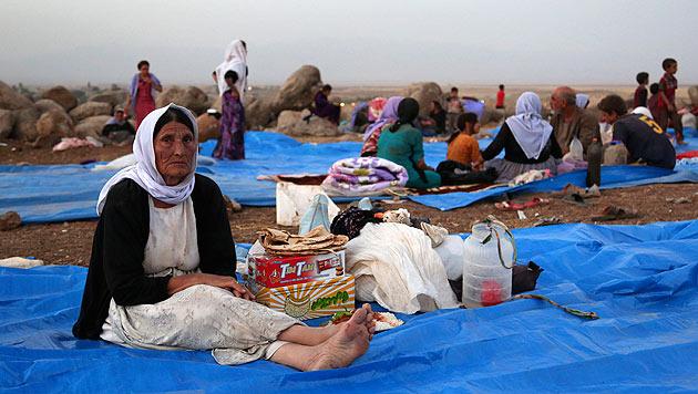 Zehntausende Menschen sind vor den Dschihadisten im Nordirak geflohen. (Bild: AP)