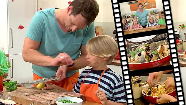 """Neue Folge von """"Kleine Köche, große Küche"""" (Bild: krone.tv)"""