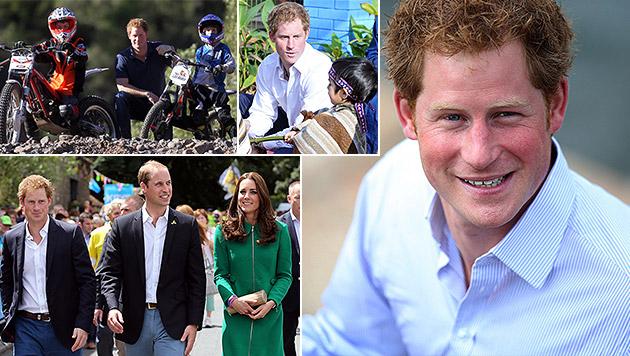 Prinz Harry wird 30 - und ist noch immer Single! (Bild: APA/EPA/Ruiz, APA/EPA/BIZERRA JR, AP, APA/EPA/BRITISH EMBASY)