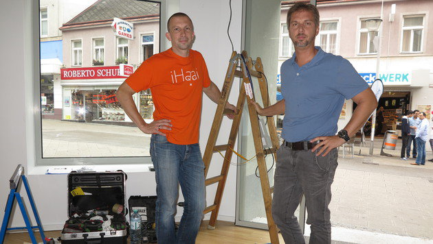 Die beiden I-Haai-Manager Christian Halper und Mario Rauch (Bild: Andi Schiel)