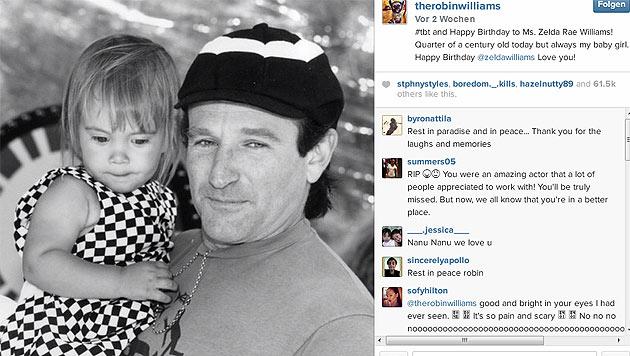 Robin Williams war sehr aktiv auf Twitter - sein letzter Tweet galt seiner Tochter. (Bild: instagram.com/therobinwilliams)