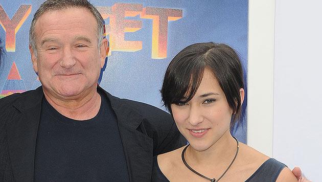 Robin Williams mit seiner Tochter Zelda (Bild: AP/Katy Winn)