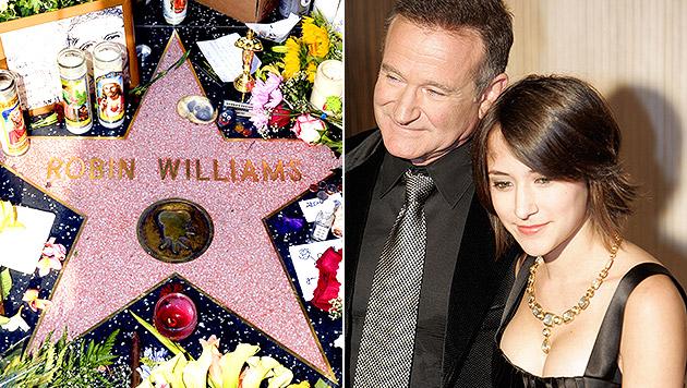 Robin Williams mit seiner Tochter Zelda (Bild: APA/EPA/MICHAEL NELSON, AFP/HECTOR MATA)