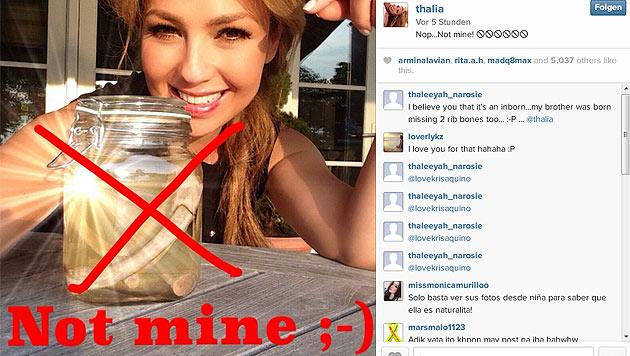 Thalia löst auf: Nein, das sind nicht ihre Rippen. (Bild: instagram.com/thalia)