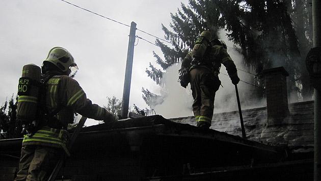 Die Feuerwehrmänner hatten alle Hände voll zu tun. (Bild: BF Graz)