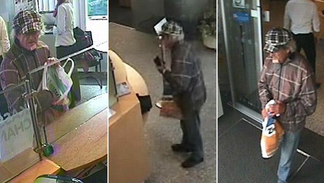 Aus den Videoaufzeichnungen der Bank konnten Aufnahmen des unbekannten Täters gesichert werden. (Bild: Polizei)