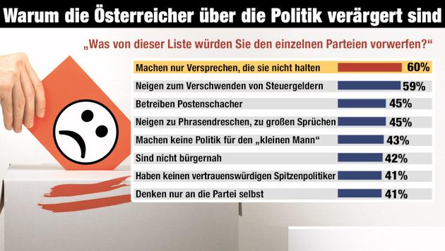 Das ist das Sündenregister unserer Politiker (Bild: Krone GRAFIK)