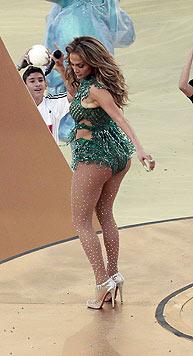 Auch auf der Bühne liefert Jennifer Lopez gerne eine Po-Show.