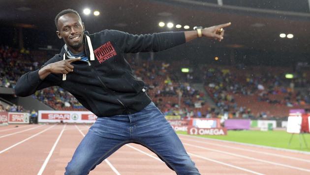 Usain Bolt beehrte Zürich und sah 100-Meter-Finale (Bild: APA/EPA/JEAN-CHRISTOPHE BOTT)