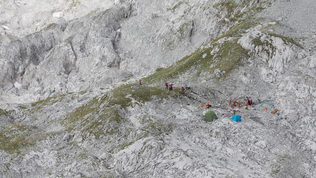 Der Bereich um den Einstieg zur 'Jack Daniel's'-Höhle vom Helikopter aus (Bild: APA/NEUMAYR/MMV)