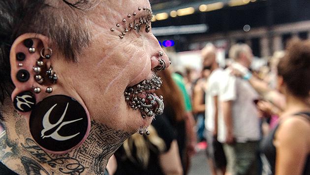 Dubai ist für meistgepiercten Mann der Welt tabu (Bild: AFP)