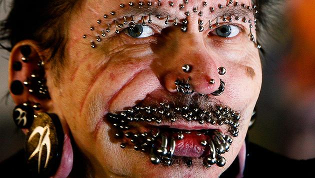 Dubai ist für meistgepiercten Mann der Welt tabu (Bild: AP)