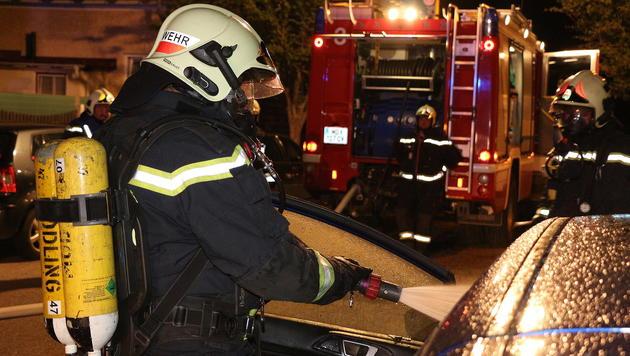 Die Freiwillige Feuerwehr Mödling hatte den Brand rasch im Griff. (Bild: Florian Zeilinger/Pressestelle BFK Mödling)