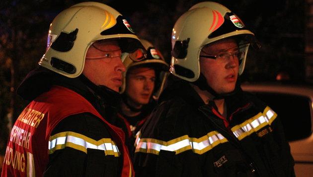 Parkender Wagen brannte in Mödling lichterloh (Bild: Florian Zeilinger/Pressestelle BFK Mödling)