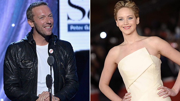 Chris Martin und Jennifer Lawrence (Bild: AFP, EPA)