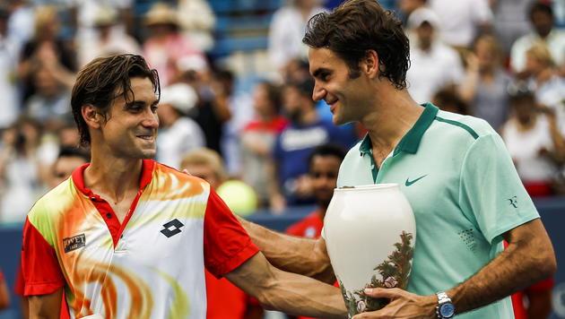 """Roger Federer ist der """"King""""! Sein 80. Turniersieg (Bild: APA/EPA/Tannen Maury)"""