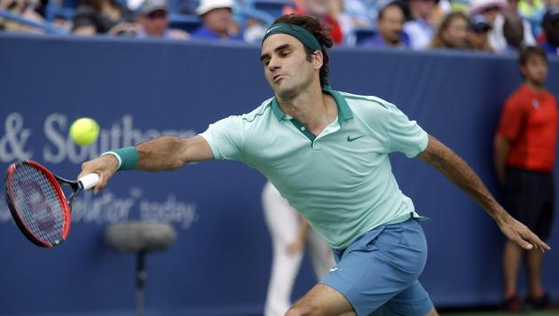 """Roger Federer ist der """"King""""! Sein 80. Turniersieg (Bild: AP)"""
