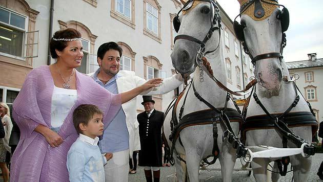Anna Netrebko feierte in Salzburg ihre Verlobung (Bild: APA/Franz Neumayr)