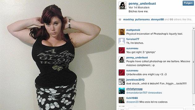 Aussehen möchte das Fetisch-Model wie die Comic-Figur Jessica Rabbit. (Bild: instagram.com/penny_underbust)