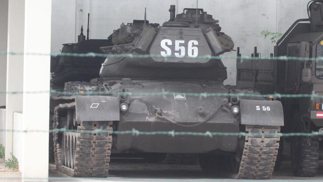 Ein ausgemusterter M60A3-Panzer (Bild: ANDI SCHIEL)