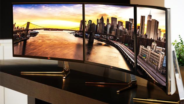 LG enthüllt krummen 21:9-Monitor mit 34 Zoll (Bild: LG)