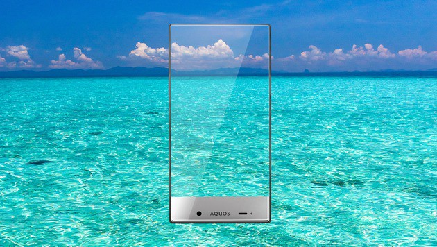 Sharp Aquos Crystal X: Smartphone fast ohne Rand (Bild: Sharp)