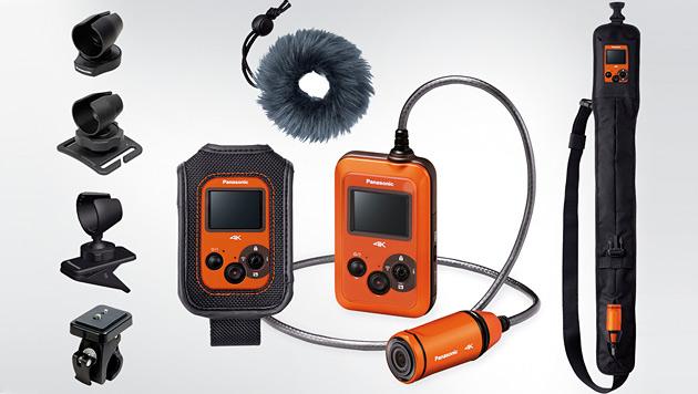 Zubehör wie spezielle Halterungen oder einen Windschutz gibt es nur gegen Aufpreis. (Bild: Panasonic)