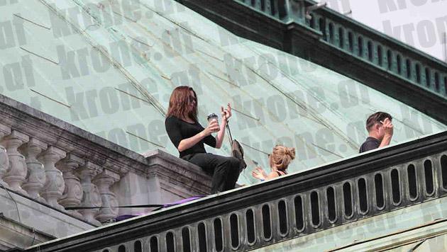 Tom Cruise: Am Operndach mit heißer  Newcomerin (Bild: Alexander Tuma/Starpix)
