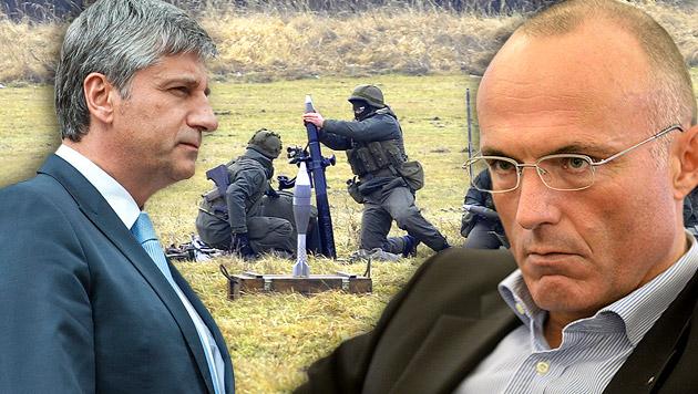 Krieg mit Worten um das Bundesheer (Bild: APA/BUNDESHEER/PUSCH, APA/EPA/BOUVY, APA/NEUBAUER)