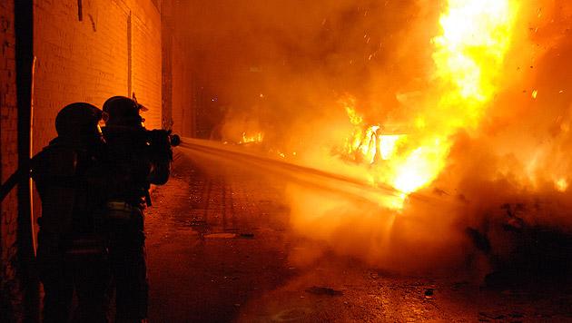 Kunststofffabrik brannte in NÖ lichterloh (Bild: Pressestelle/BFK Mödling)