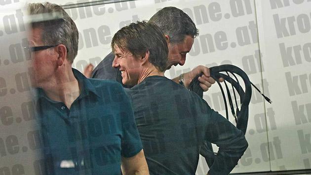 Tom Cruise in der Wiener U-Bahn-Station Schottenring (Bild: Alexander Tuma/Starpix)
