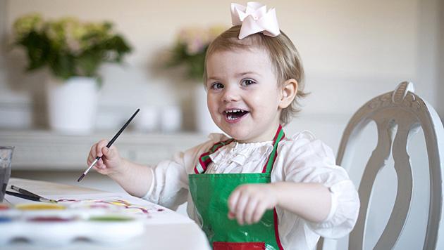 Prinzessin Estelle darf im Kindergarten viel im Freien herumtollen. (Bild: Kate Gabor/Kungahuset.se)