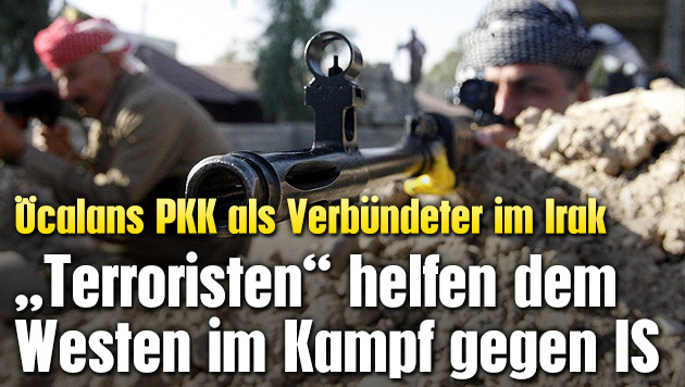 """Terroristen"" helfen Westen gegen IS-Dschihadisten (Bild: APA/EPA/MOHAMMED JALIL)"