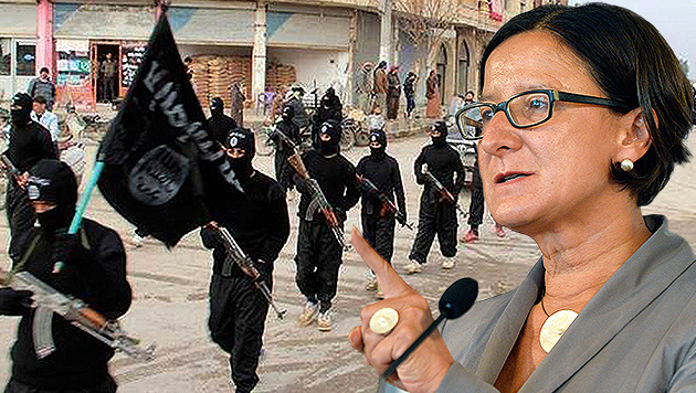 "Innenministerin Mikl-Leitner: ""Verstärkt gegen radikale Islamisten vorgehen"" (Bild: AP, APA/HANS PUNZ, krone.at-Grafik)"